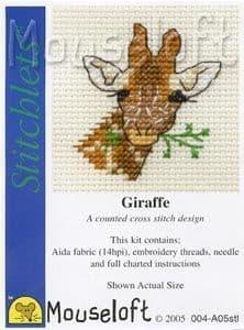 Mouseloft Giraffe Stitchlets cross stitch kit